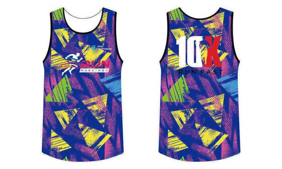 Custom design sublimation printing breathable reversible sublimated running shirts