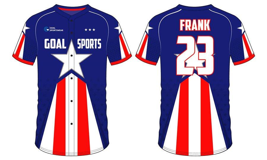 Custom made sublimated printing short sleeve Custom Mens Softball Jerseys
