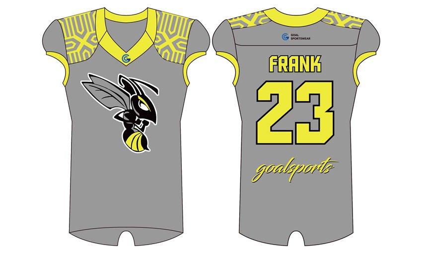 Custom made sublimated printing short sleeve Sublimated Flag Football Jerseys