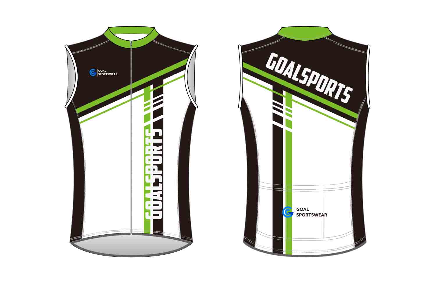 Custom made sublimated printing short sleeve custom Cycling Vest