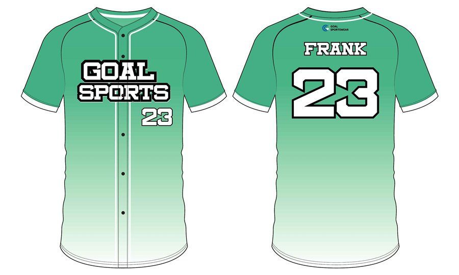 Custom made sublimated printing short sleeve custom baseball team shirts