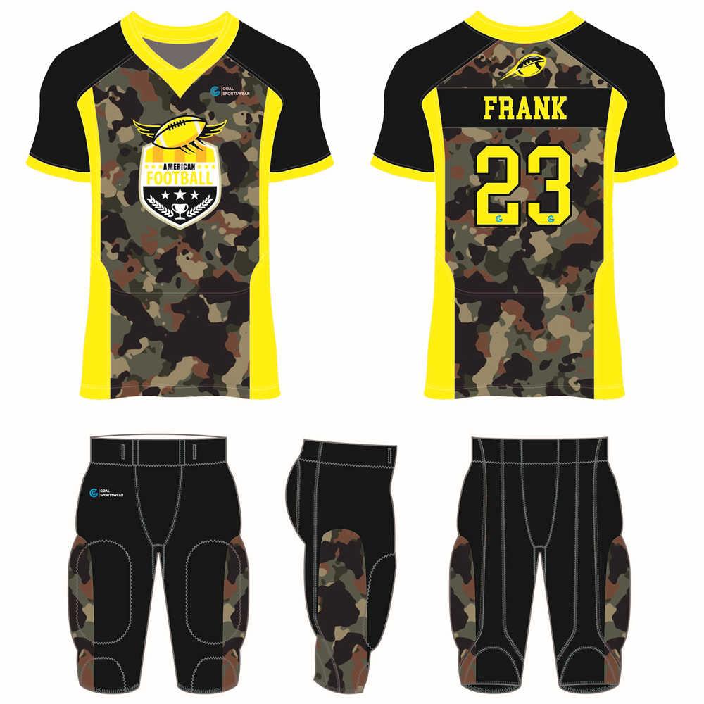 Custom made sublimated printing short sleeve custom football uniforms