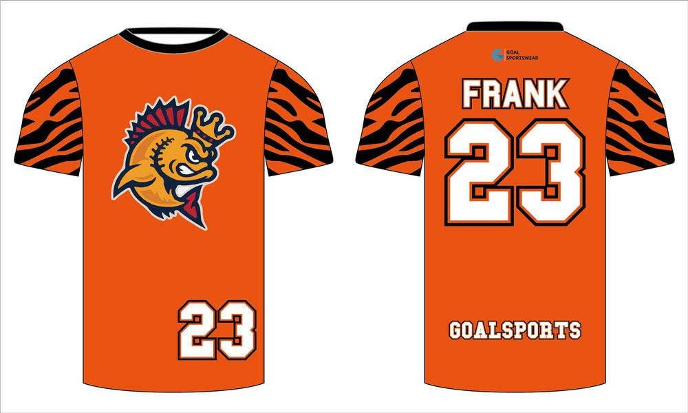 Custom made sublimated printing short sleeve custom lacrosse shirts