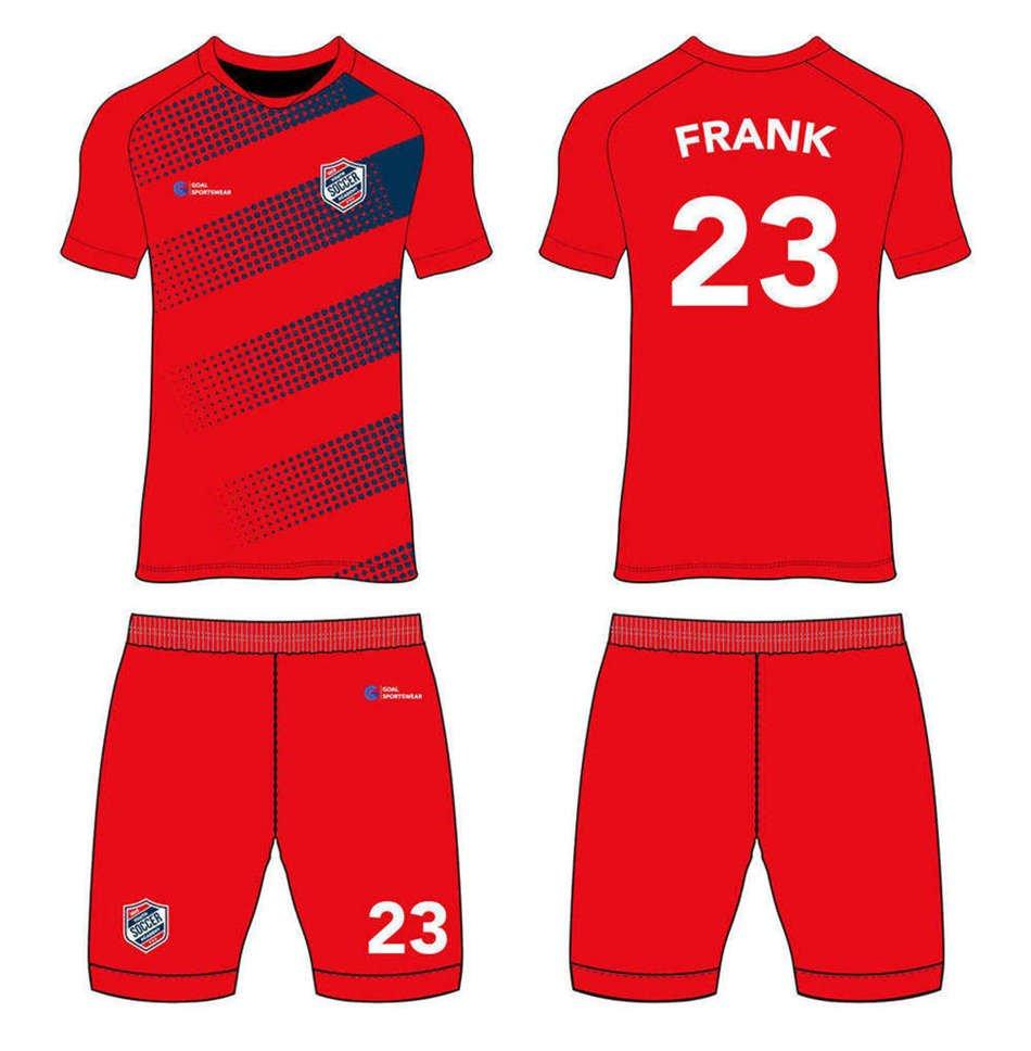 Custom made sublimated printing short sleeve custom soccer tops
