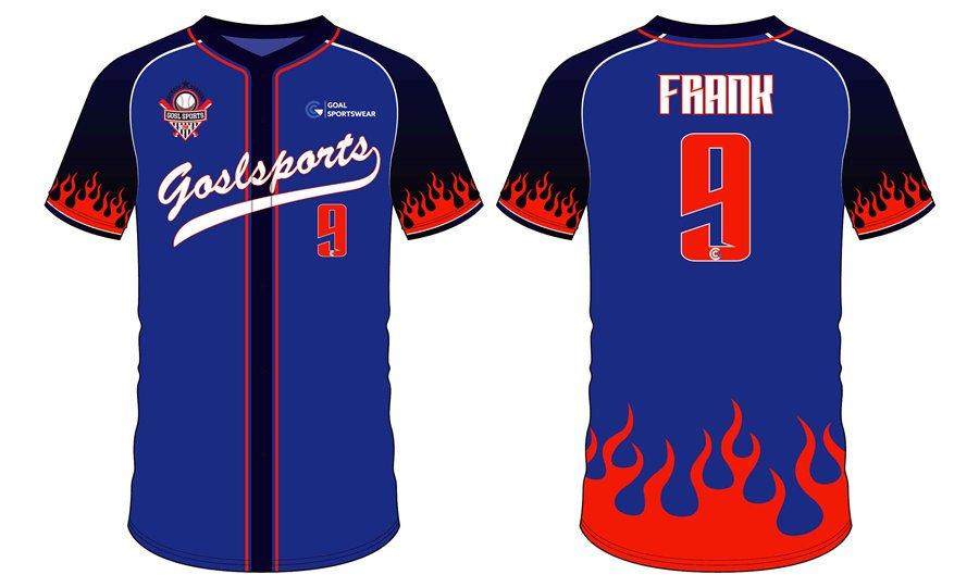 Custom made sublimated printing short sleeve custom youth baseball shirts