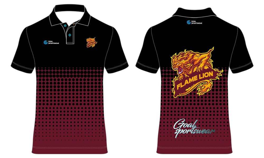 Custom made sublimated printing short sleeve darts polo shirts