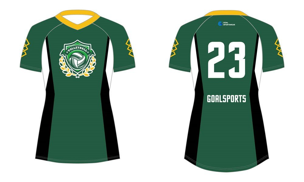 Custom made sublimated printing short sleeve sublimated volleyball jerseys