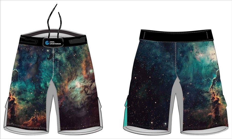 Custom made sublimated printing short sleeve wrestling fight shorts