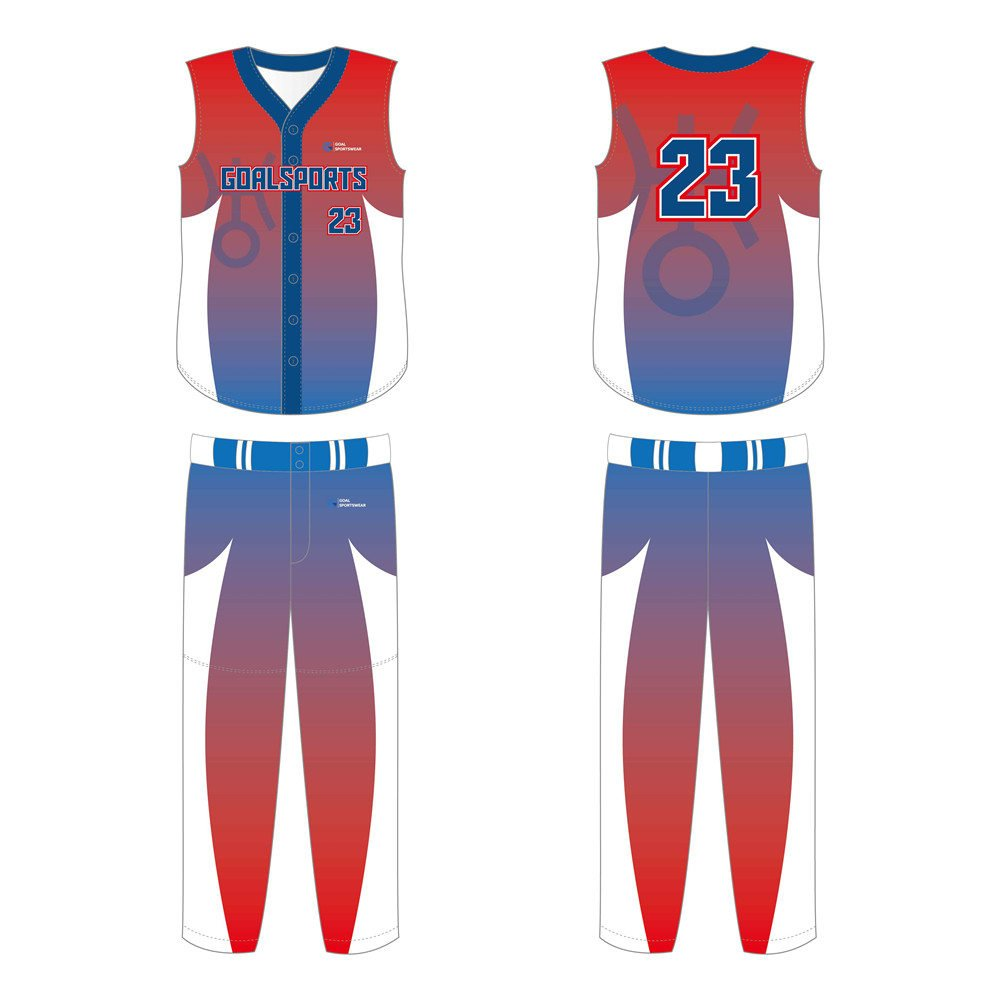 Custom made sublimation printing mens pro Custom Sleeveless Baseball Jerseys
