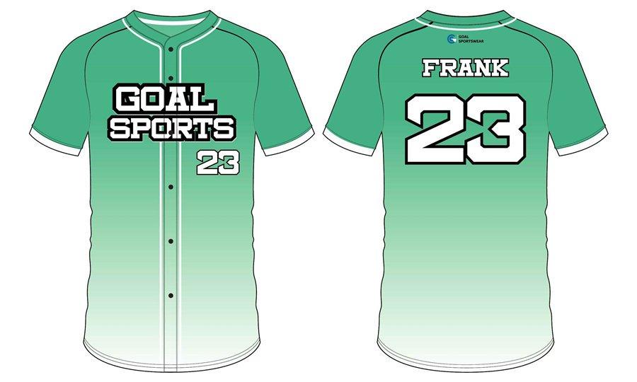 Custom made sublimation printing mens pro Full Button Baseball Jerseys