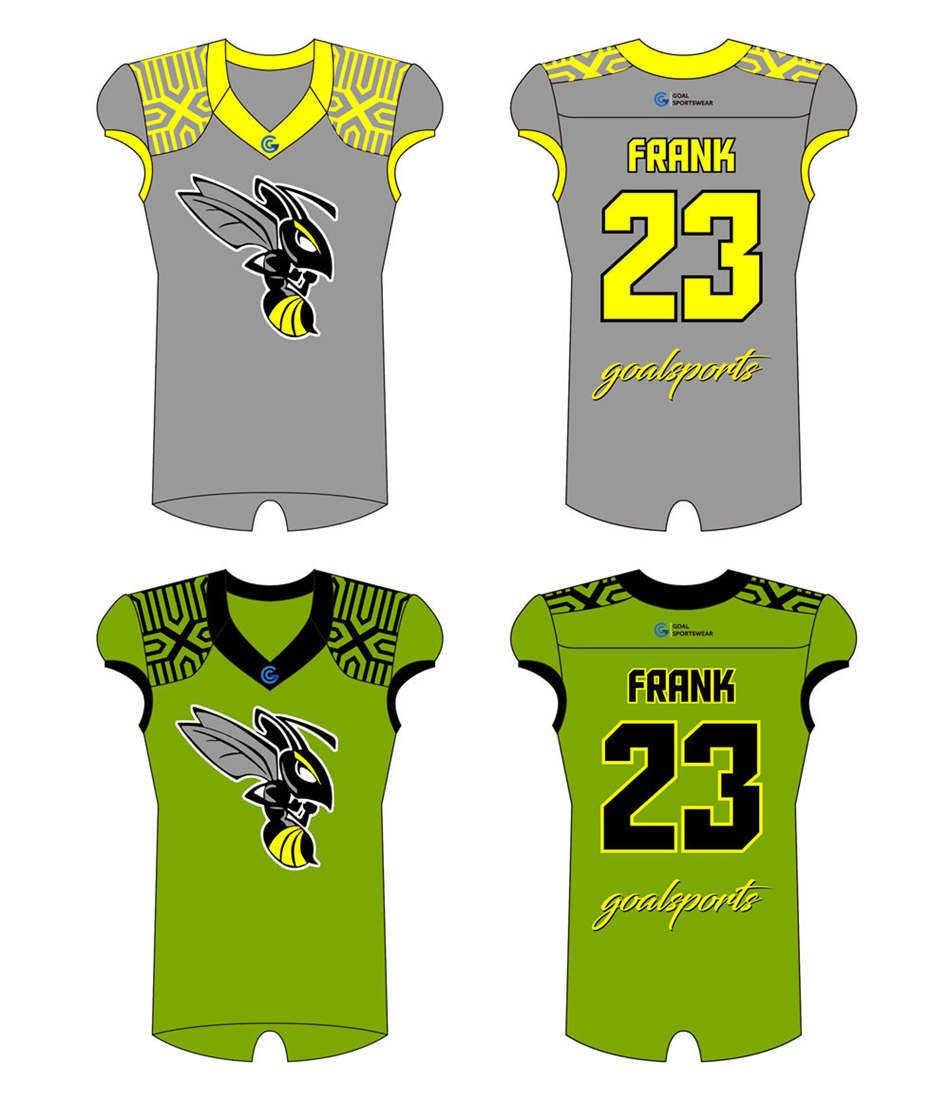 Custom made sublimation printing mens pro Reversible Football Jerseys