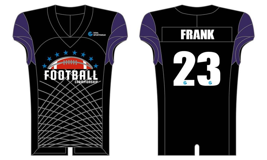 Custom made sublimation printing mens pro Sublimated Flag Football Jerseys