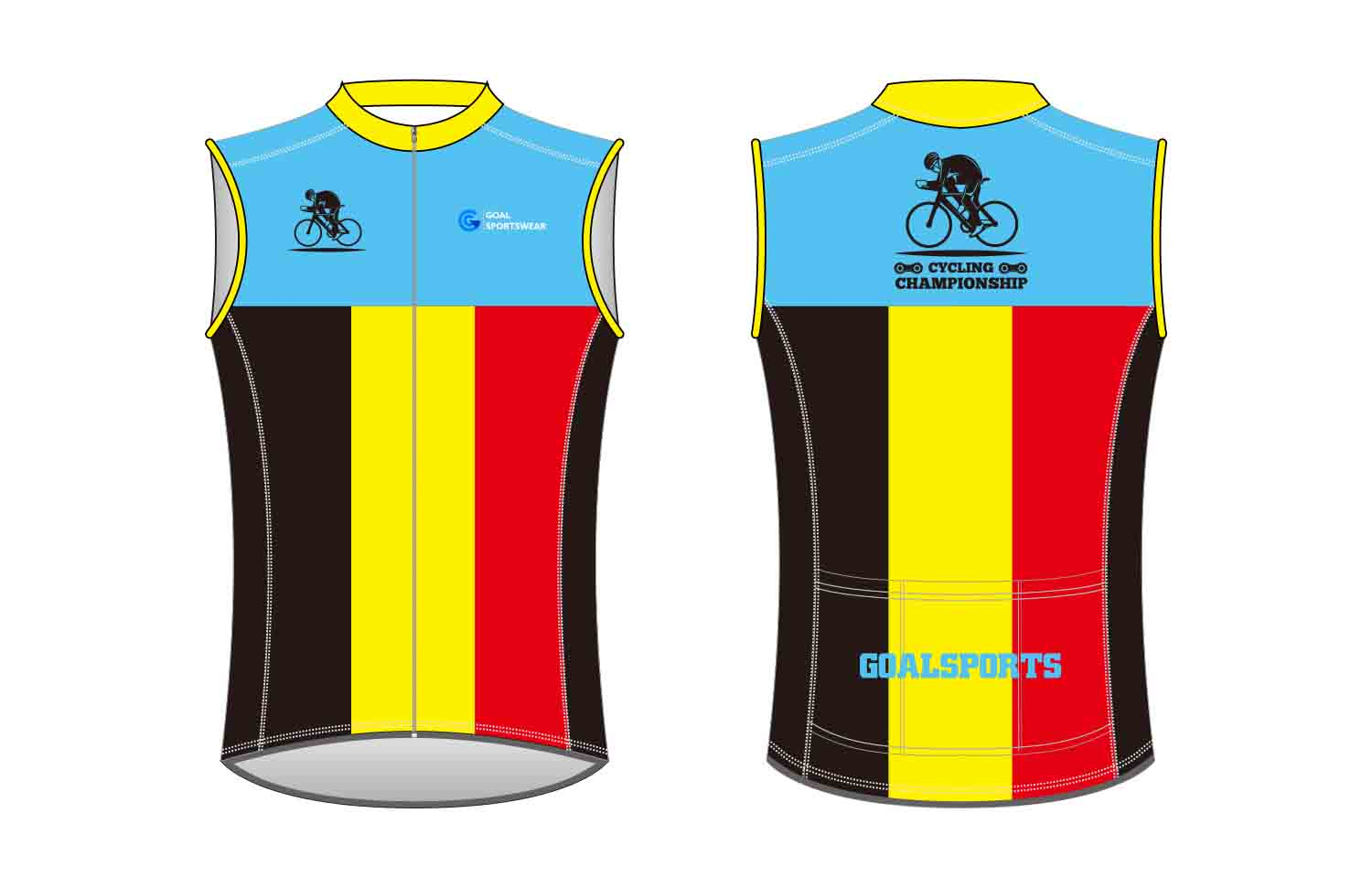 Custom made sublimation printing mens pro custom Cycling Vest