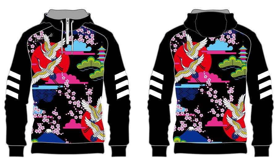 Custom made sublimation printing mens pro custom lacrosse hoodies