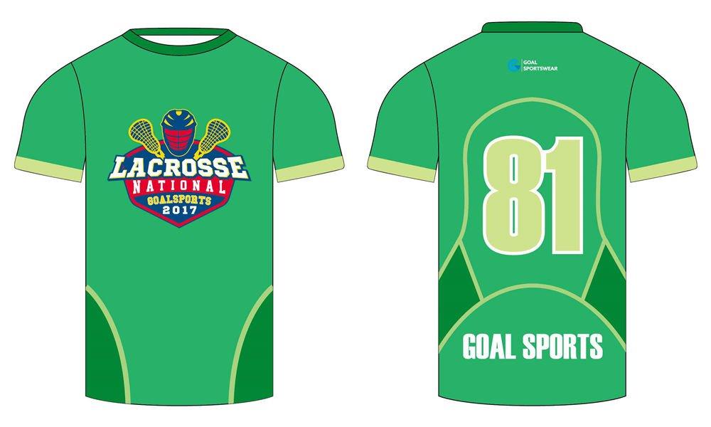 Custom made sublimation printing mens pro custom lacrosse shirts