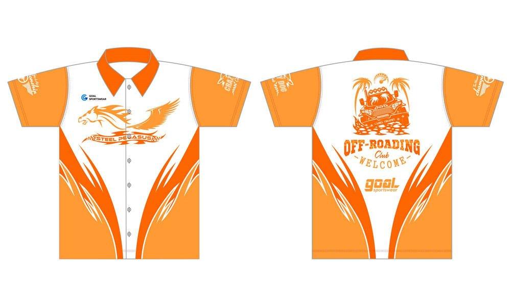Custom made sublimation printing mens pro custom pit crew shirts