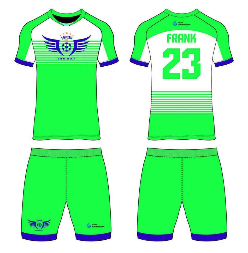 Custom made sublimation printing mens pro custom soccer kits