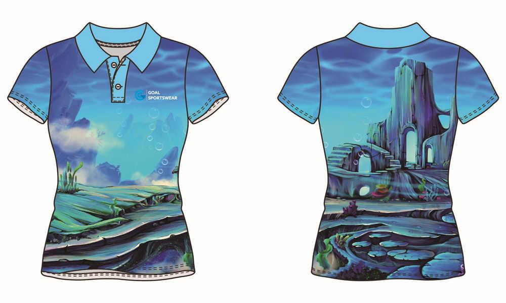 Custom made sublimation printing mens pro darts polo shirts
