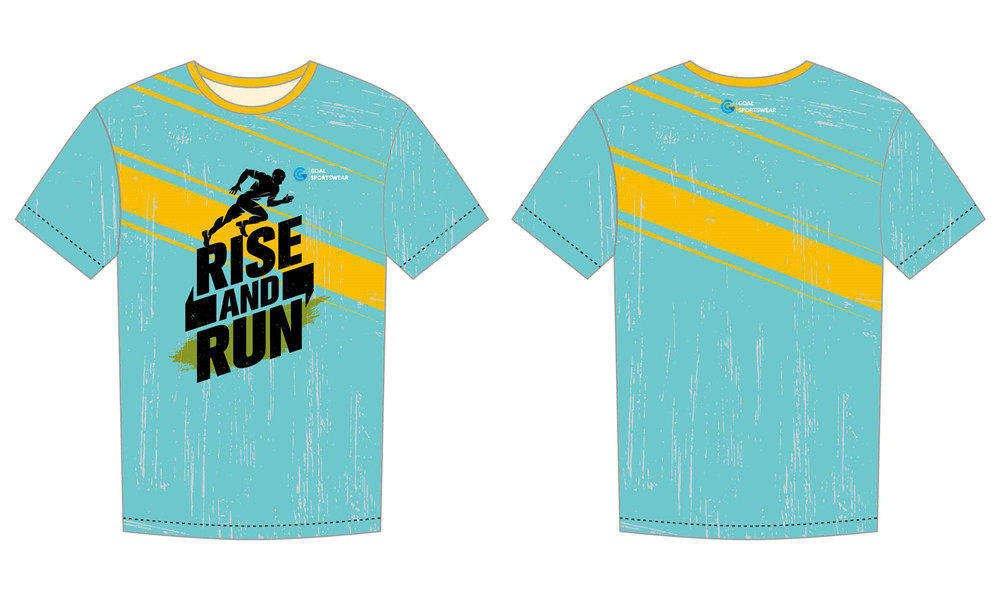 Custom made sublimation printing mens pro sublimated running shirts