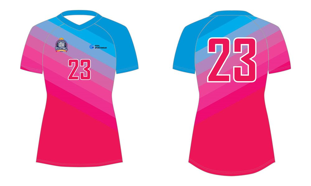 Custom made sublimation printing mens pro sublimated volleyball jerseys