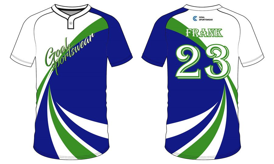 Custom wholesale sublimated printed Two-Button Baseball Jersey
