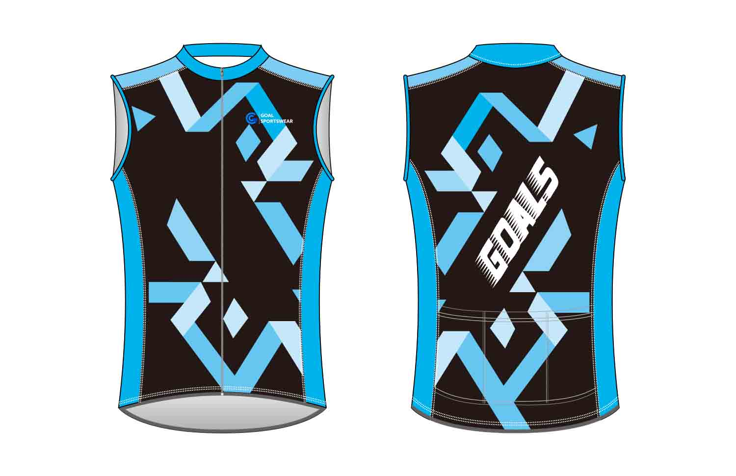 Custom wholesale sublimated printed custom Cycling Vest