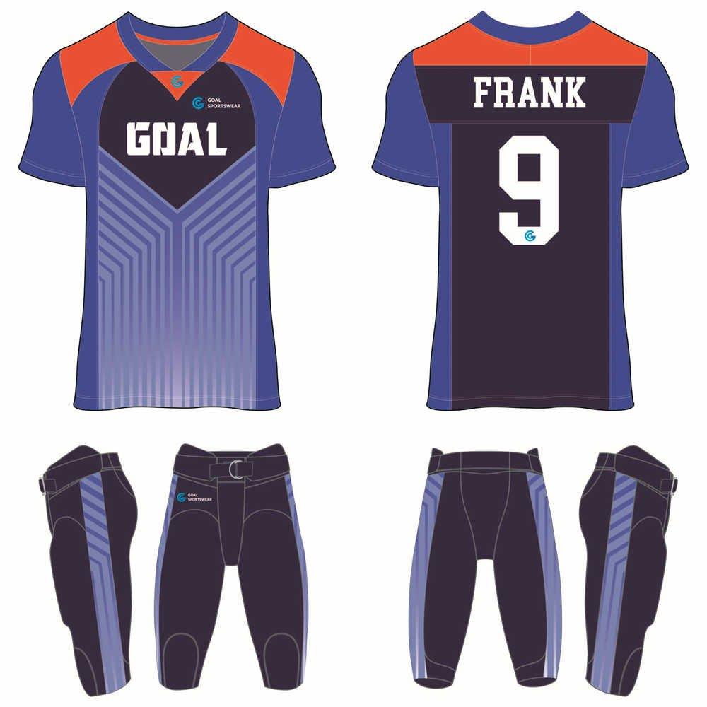 Custom wholesale sublimated printed custom football uniforms