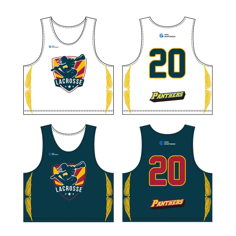 Custom Wholesale Sublimated Printed Custom Lacrosse Pinnies