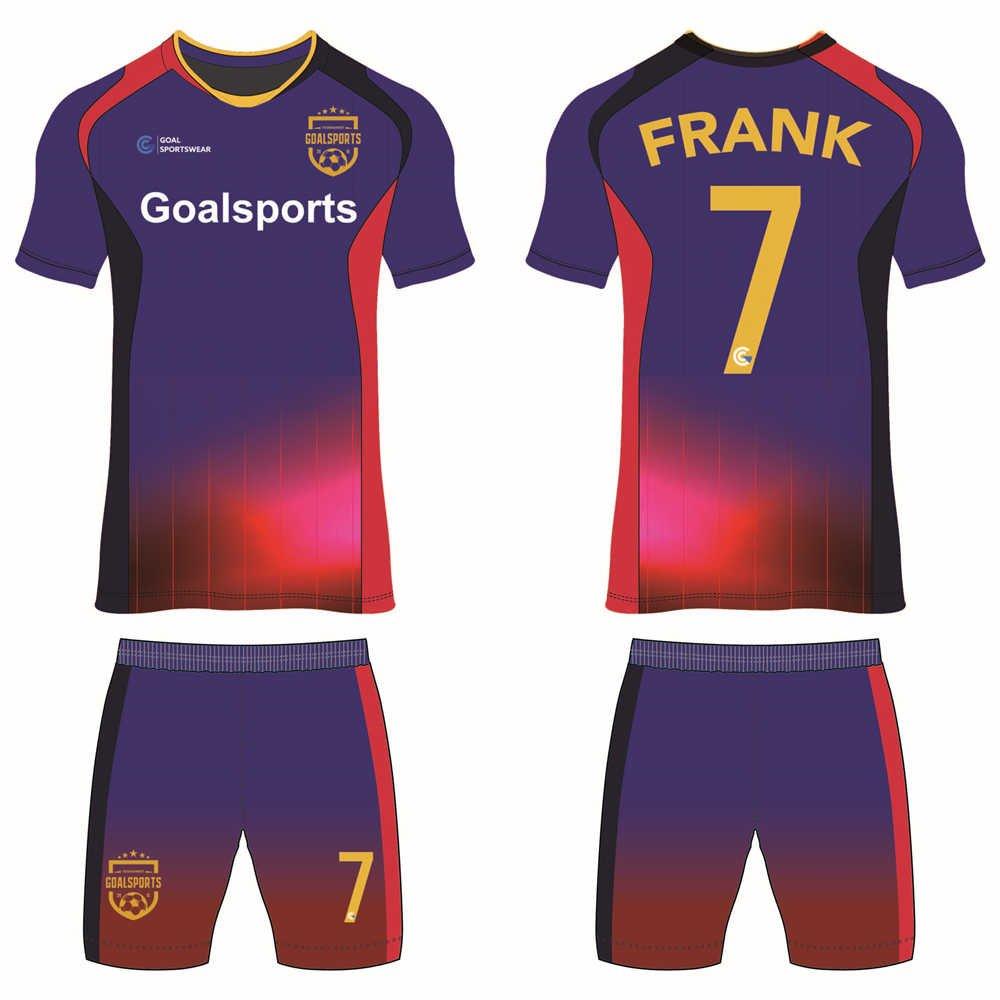 Custom wholesale sublimated printed custom soccer kits
