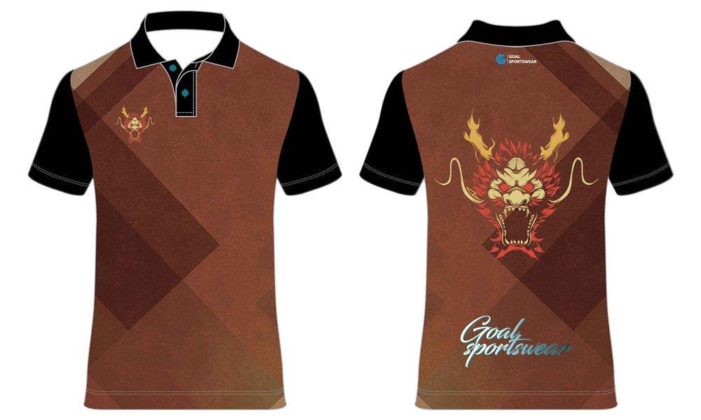 Custom wholesale sublimated printed darts polo shirts
