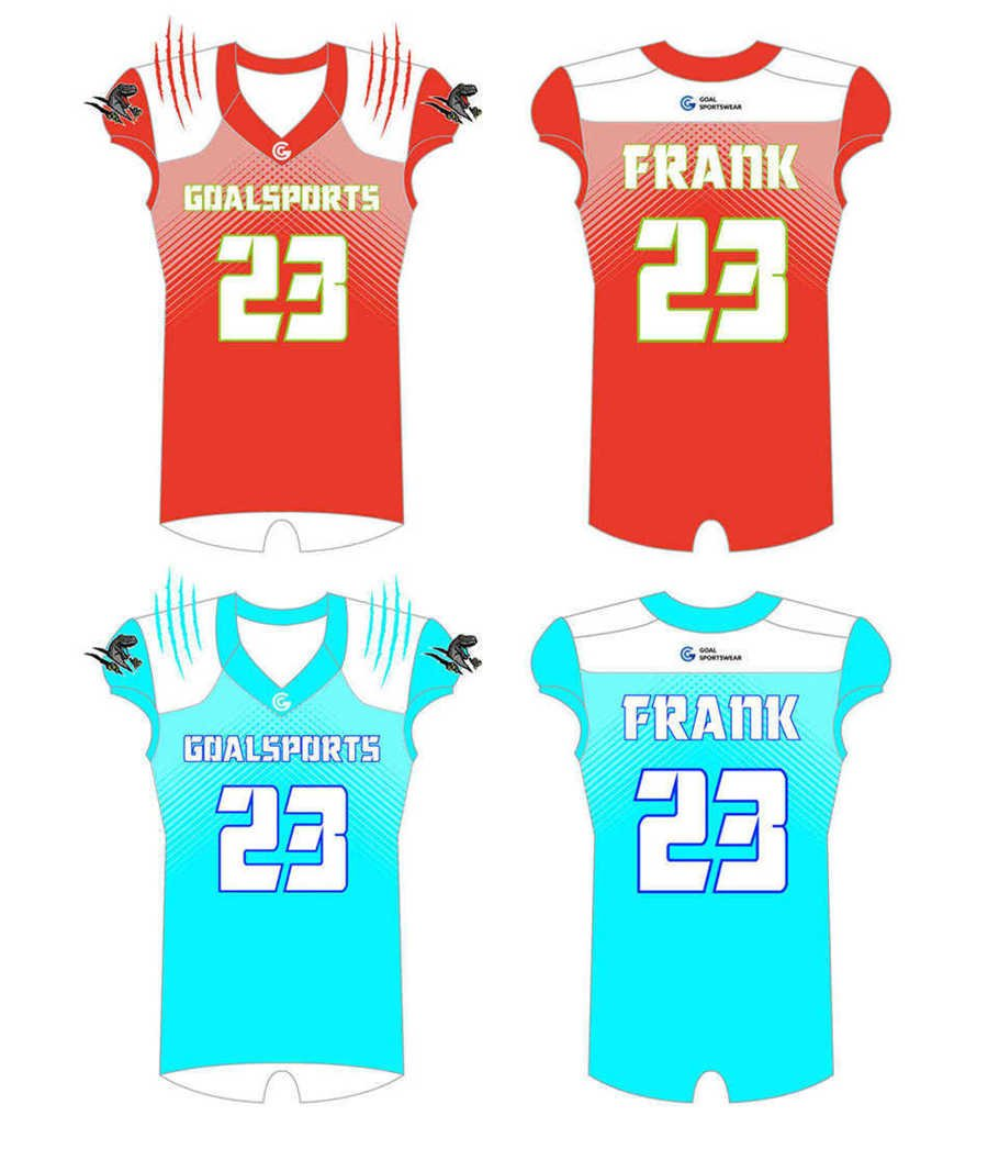 Dye sublimation custom design team Reversible Football Jerseys