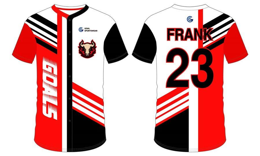 Dye sublimation custom design team badger baseball jerseys