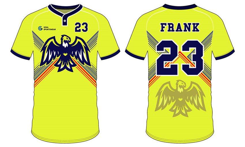 Dye sublimation custom design team custom baseball team shirts
