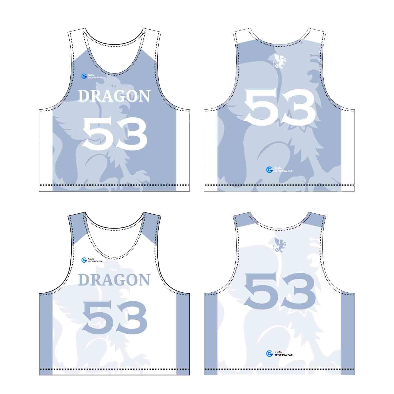 Dye Sublimation Custom Design Team Custom Lacrosse Pinnies