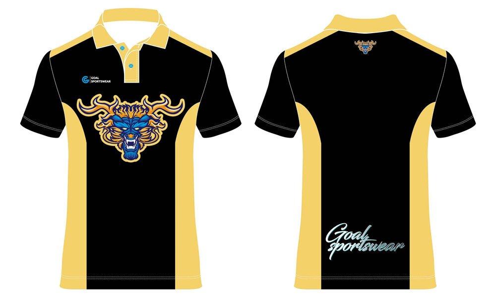 Dye sublimation custom design team darts polo shirts