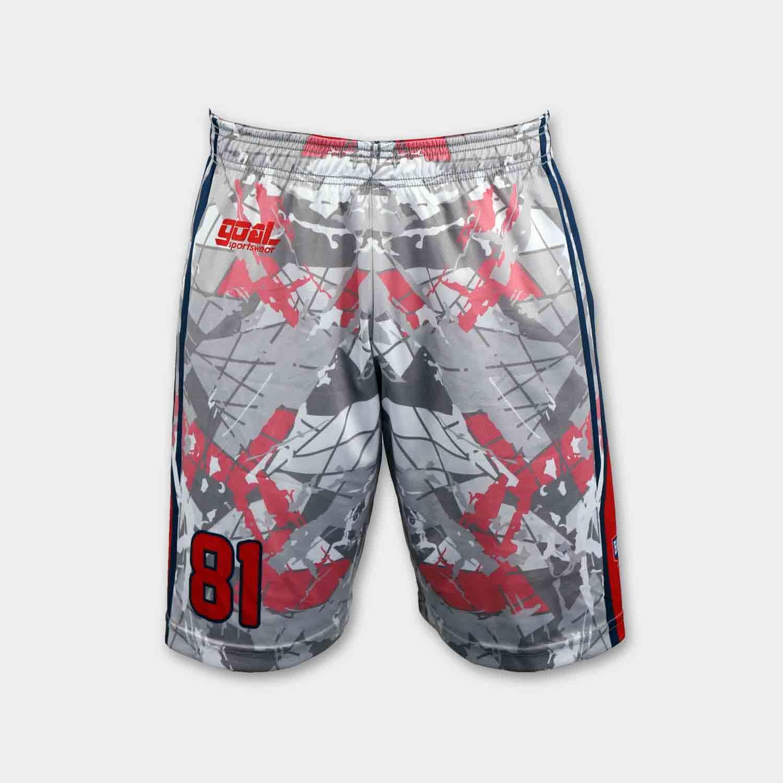 Dye sublimation custom design team reversible basketball shorts