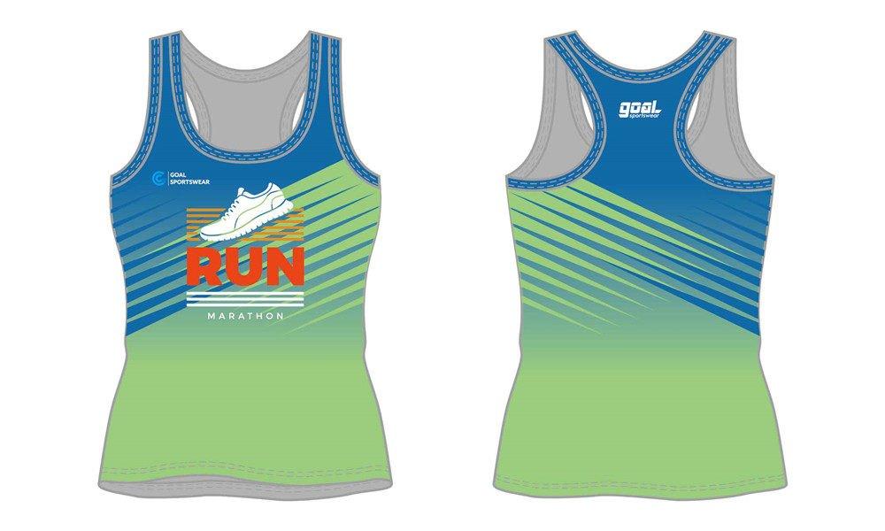 Dye sublimation custom design team sublimated running shirts