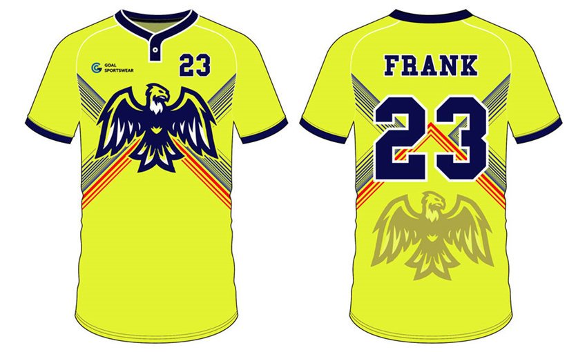 Dye sublimation printing Custom design youth Custom Mens Softball Jerseys