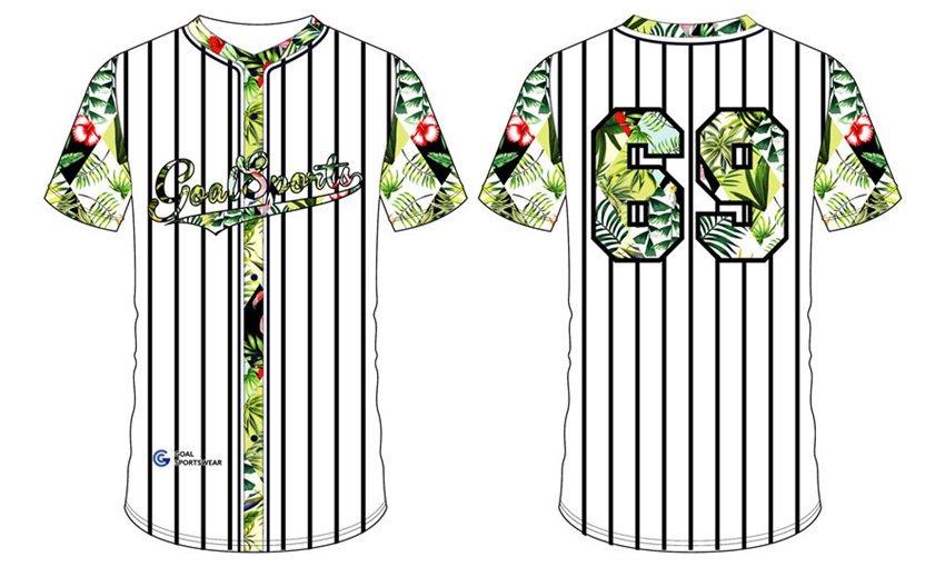 Dye sublimation printing Custom design youth Full Button Baseball Jerseys