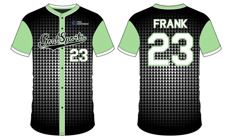 Dye sublimation printing Custom design youth badger baseball jerseys