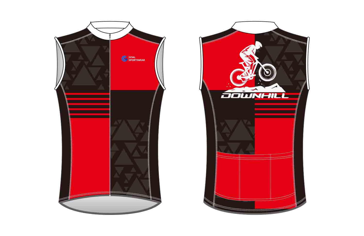 Dye sublimation printing Custom design youth custom Cycling Vest