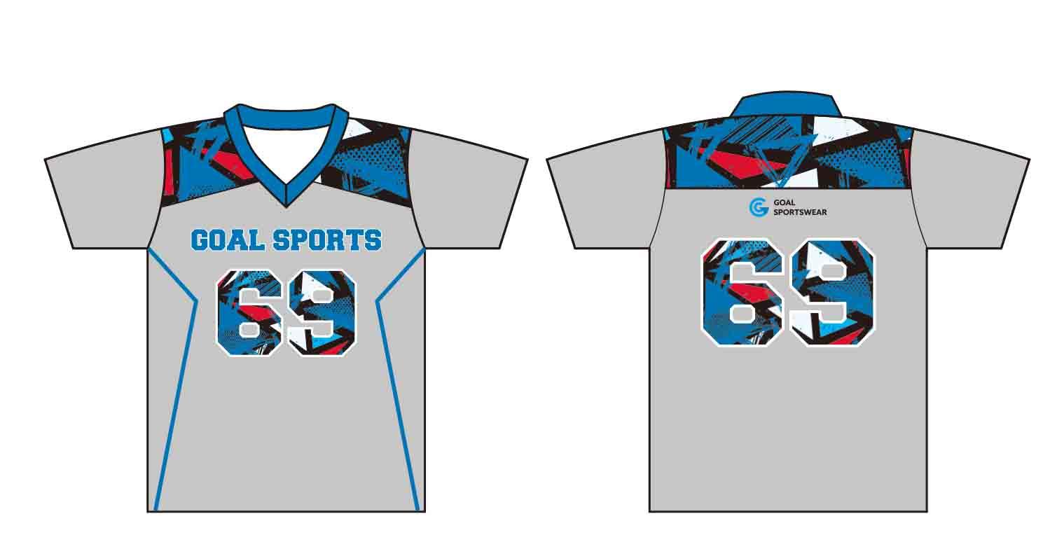 Dye sublimation custom design youth custom lacrosse shirts