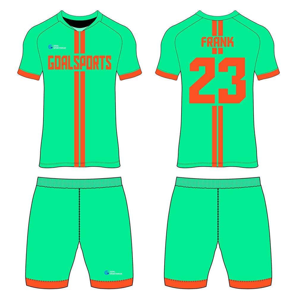 Dye sublimation printing Custom design youth custom soccer kits