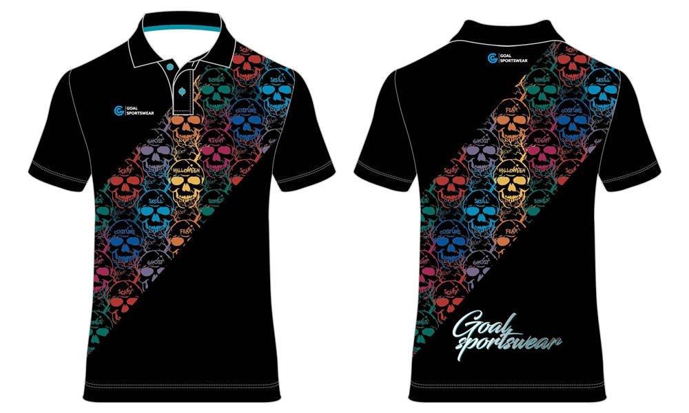 Dye sublimation printing Custom design youth darts polo shirts