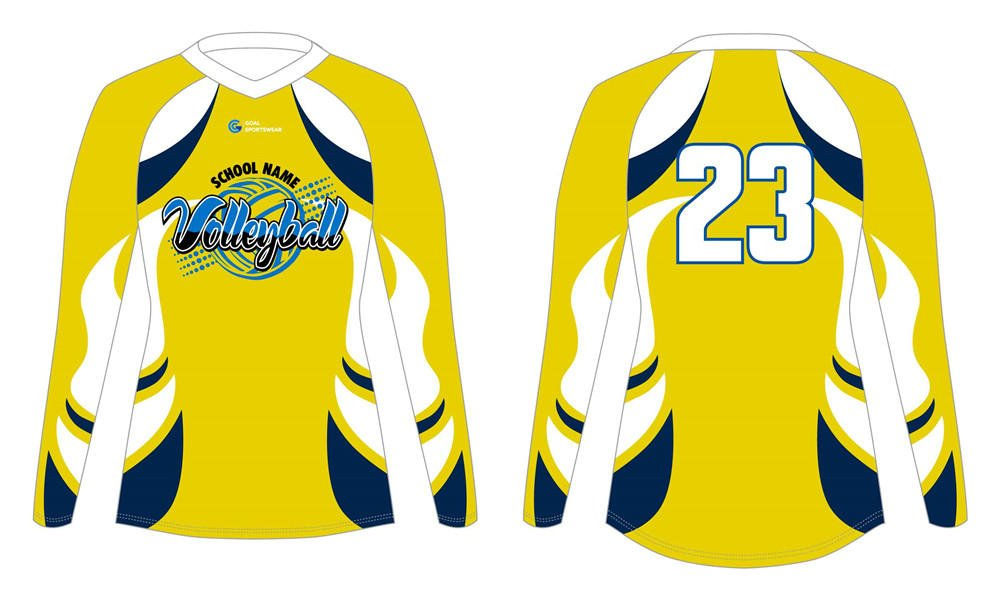Dye sublimation printing Custom design youth sublimated volleyball jerseys