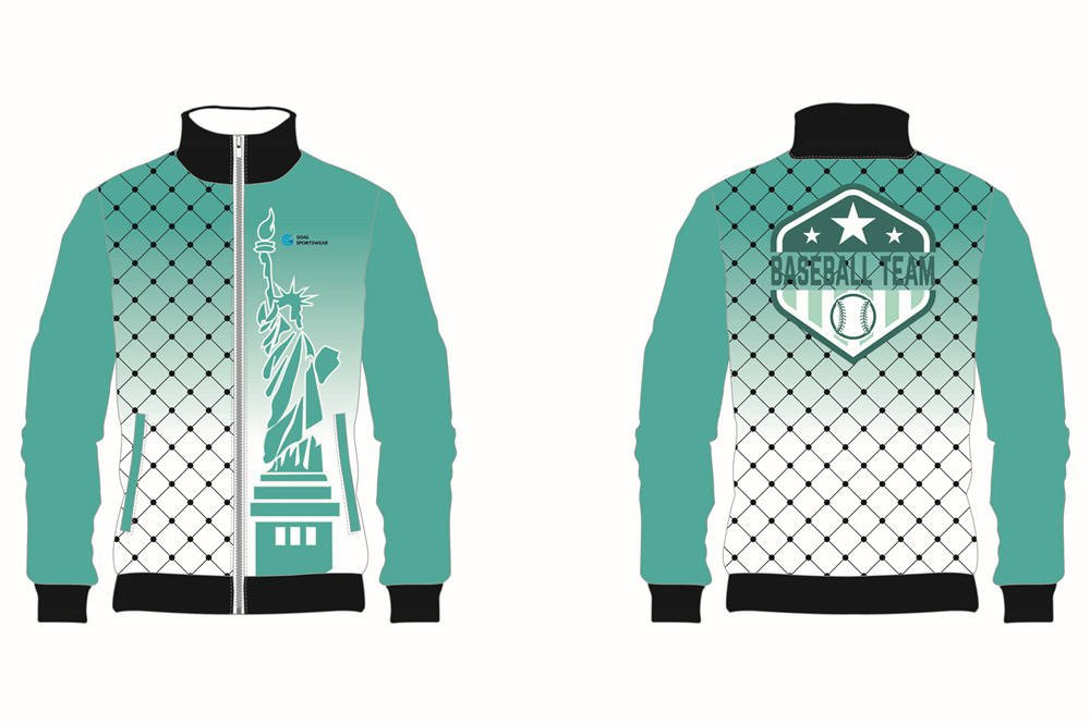 Dye sublimation printing custom design full polyester Custom Baseball jackets