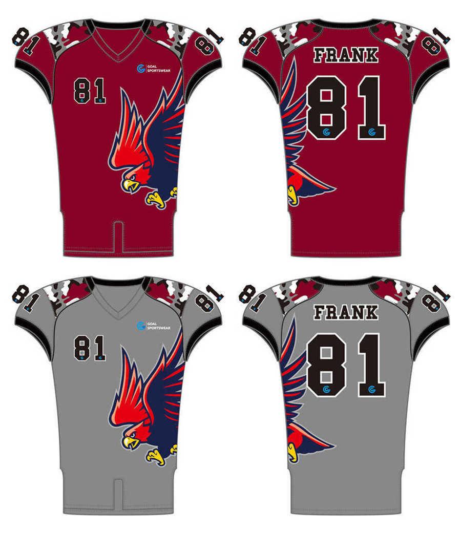 Dye sublimation printing custom design full polyester Reversible Football Jerseys