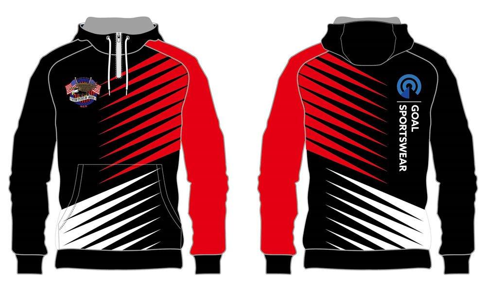 Dye sublimation printing custom design full polyester custom Soccer Hoodies