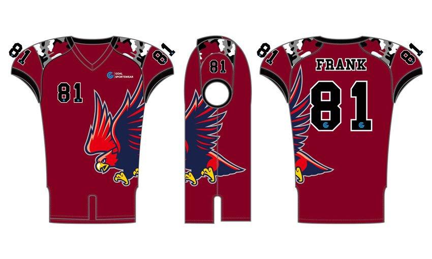 Dye sublimation printing custom design full polyester custom college football jersey