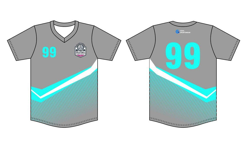 Dye sublimation printing custom design full polyester sublimated volleyball jerseys